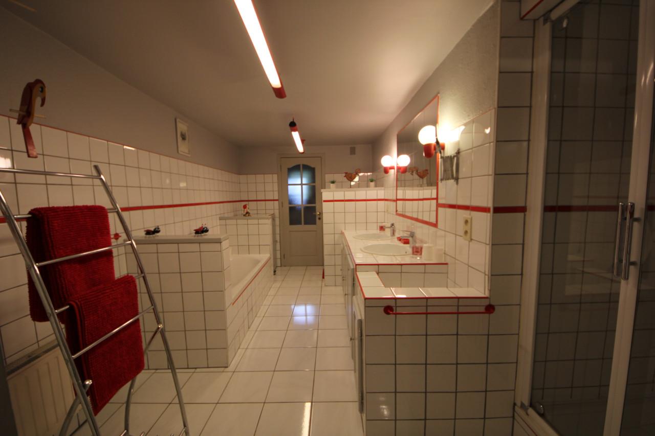 Vakantiehuis met grote badkamer met douche en bad